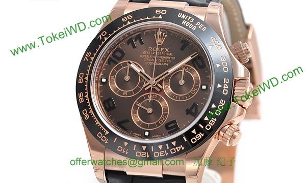 timeless design a8f56 f808e ロレックス(ROLEX)人気 デイトナ 革ベルト116515LN スーパーコピー 時計