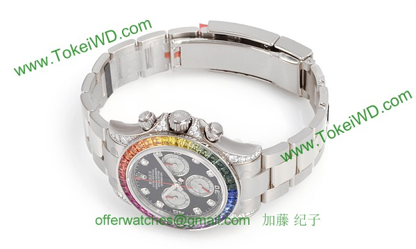 ROLEX ロレックス スーパーコピー 時計 デイトナ レインボー 116599RBOW